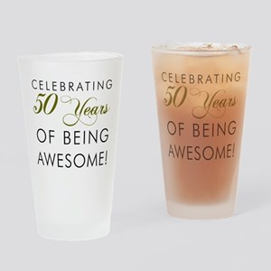Celebrating 50 Years Drinking Glass